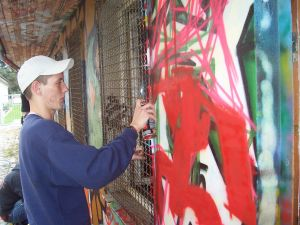 Graffiti-Workshop vorm DOSTO